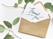 canvas print picture - Thank You card in an envelope