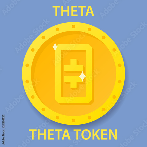Fotografía  Theta Token Coin cryptocurrency blockchain icon