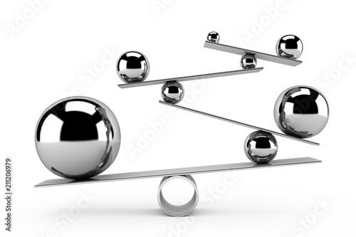 Balance concept - 3d render Lerretsbilde