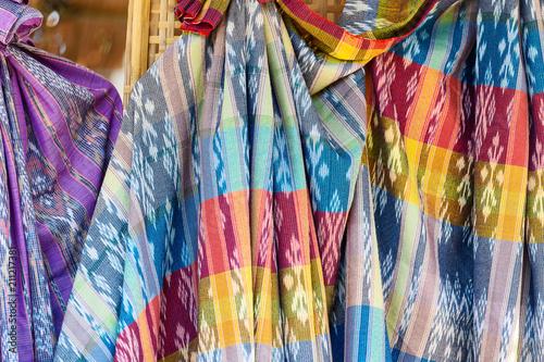 Foto op Aluminium Paradijsvogel bloem Close up Thai silk.