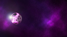 Planet Galaxy Outer Space Moon Colorful High Quality Purple