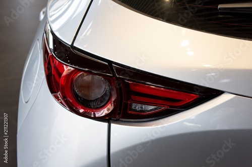 Foto op Plexiglas Motorsport Car tail light red color for customers. Using wallpaper or background for transport and automotive automobile image.