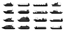 Set Of Commercial Cargo Ships....