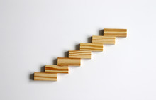 Seven Wooden Blocks Stacked In...