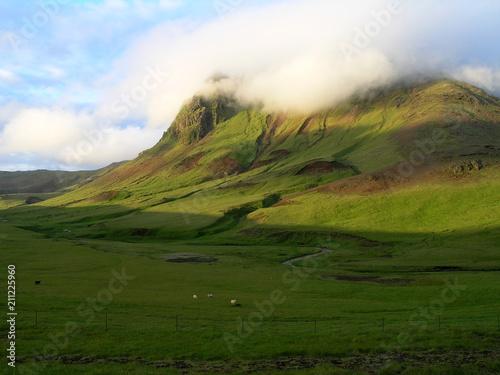 Obraz na plátně Green Iceland