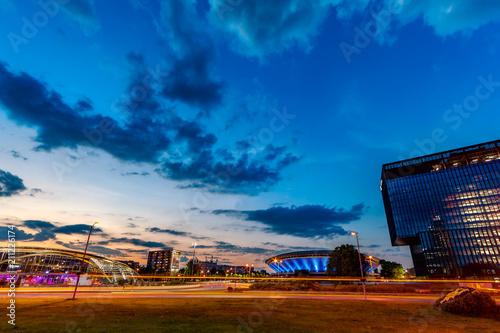 Katowice, traffic by night (4k time lapse)