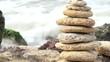 Stones relax harmony waves of sea, 4k