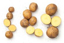 Fresh Organic Potatoes Isolate...