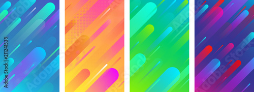 Fototapeta Colorful backgrounds with abstract geometric pattern. obraz