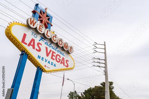 Deurstickers Las Vegas Famous Las Vegas sign