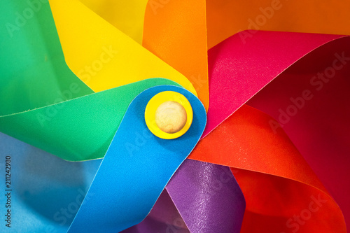 Colorful red blue green yellow purple pinwheel. children toy Wallpaper Mural