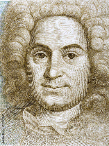 Balthasar Neumann portrait from Deutsche Mark Canvas Print