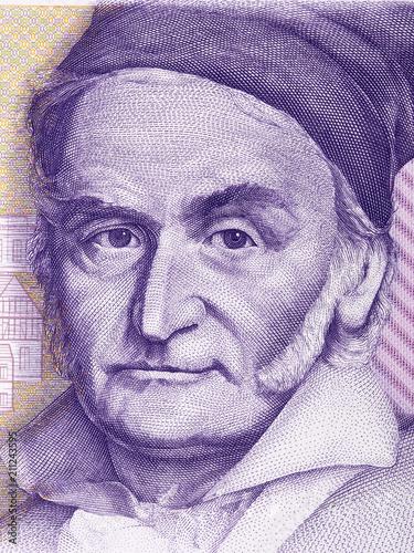 Carl Friedrich Gauss portrait from Deutsche Mark