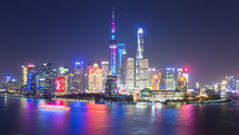 Beautiful Shanghai Skyline At ...