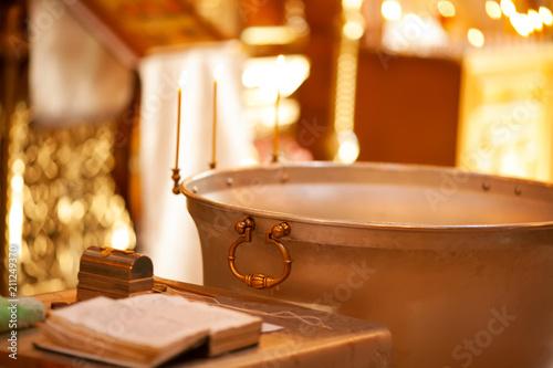 Baptismal font for babies Fototapeta