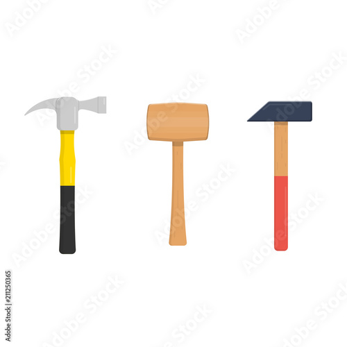 Set of three hammers Fototapet