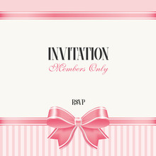 Invitation With Pink Bow