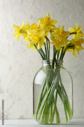 Deurstickers Narcis Yellow narcissus flowers