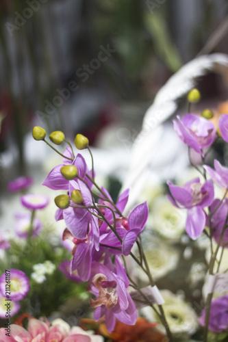 Foto auf Gartenposter Landschappen Florists shop flowers bouquet