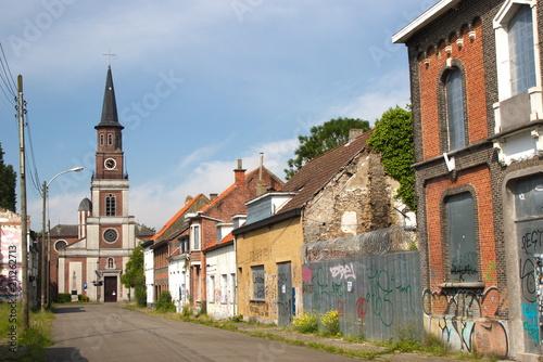 Doel: een verlaten spookstad in België Billede på lærred