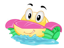 Mascot Paddle Boat Illustration