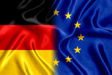 Flag Germany And European Union Silk
