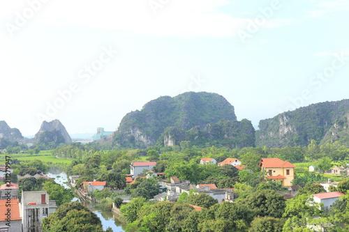 Fotobehang Marokko Hang Mua, Tam coc in Ninh Binh, Vietnam