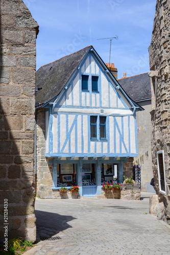 Ville de Guérande en Loire-Atlantique en Bretagne Slika na platnu