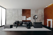 Leinwanddruck Bild - 3d render of beautiful clean interior render