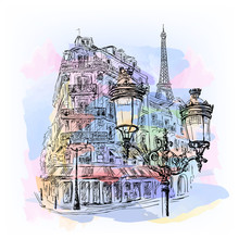 Paris Watercolor Sketch