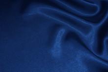 Blue Satin, Silk, Texture Background