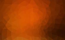 Dark Orange Vector Polygonal P...