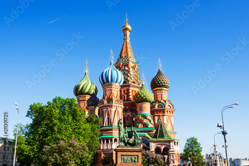 Keuken foto achterwand Moskou St. Basil's Cathedral. Favorite place for tourist in Moscow, Russia.