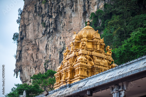 The roof of Hindu temple closeup, near the entrance to Batu Caves in Kuala Lumpu Poster