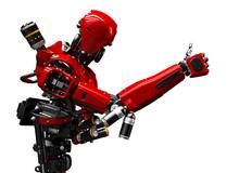 Red Robot - 3d Rendering