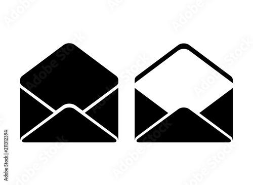 Pinturas sobre lienzo  Open envelope vector icon