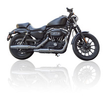 Custom Motorcycle Isolated On ...