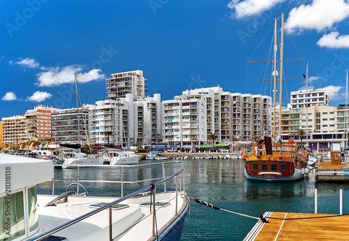 Spoed Foto op Canvas Poort Port of San Antonio de Portmany. Ibiza Island. Spain