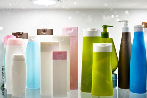 Fotografie, Obraz  Plastic bottles cosmetic and shampoo