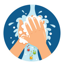 Vector Illustration Of Washing...