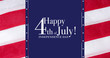canvas print picture - Happy 4th of July greeting with red and blue background, Independence Day