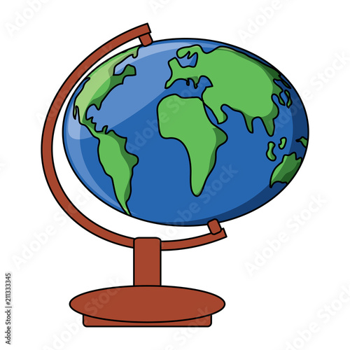 Fotografie, Obraz  geography tool icon over white background, vector illustration