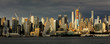 JUNE 6, 2018 - NEW YORK, NEW YORK, USA - New York City and Hudson River features VIA 57 Building (Sale triangular shaped) and Manhattan Skyline