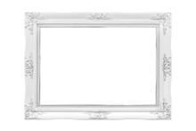White Wood Frame On White Back...