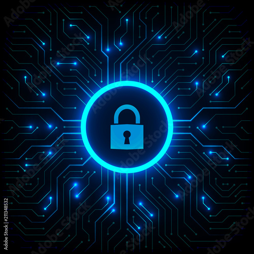 Photographie  Abstract technology background