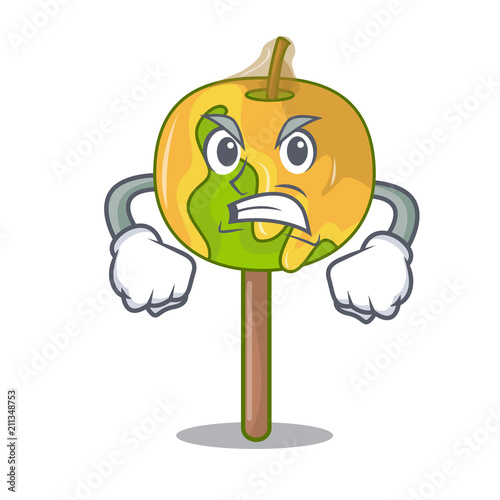 Angry candy apple mascot cartoon Wallpaper Mural