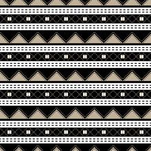 Elegant Seamless Geometric Pattern Black, White, Beige Colors