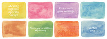 Vector Watercolor Rectangle Set