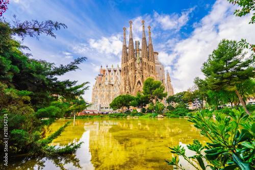 Foto op Canvas Barcelona La Sagrada Familia