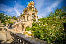 Picturesque Fountain In Parc De La Ciutadella In Barcelona | Spain